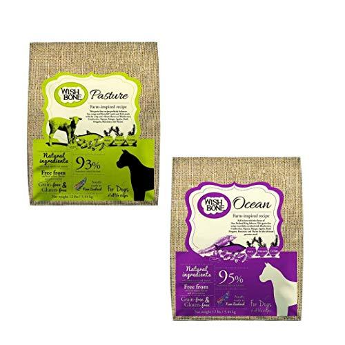 Kit: Wishbone Pasture sabor cordeiro (canino) + Wishbone Ocean (canino), 5.44kg