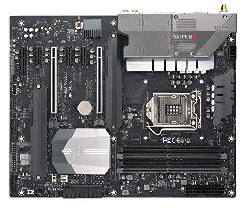 (Supermicro MBD-C9Z390-CGW-O Motherboard LGA 1151 (300 Series) Intel Z390 DDR4 SATA 6GB/s M.2 DisplayPort HDMI 10G LAN Wi-Fi USB 3.1 RGB ATX)