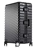 "Enkloze KLASIK Aluminum Carry-On Suitcase - Spinner 100% Aluminum TSA Approved (Suitcase - 28"", Black)"