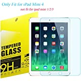 """iPad Mini 4 Tempered Glass Screen Protector, TOWEE iPad Mini 4 7.9"""" 9H Hardness HD-Clear Blue Light Screen Protector Film with Anti-Scratch, Anti-Fingerprint, Eyes-Protected Function"""