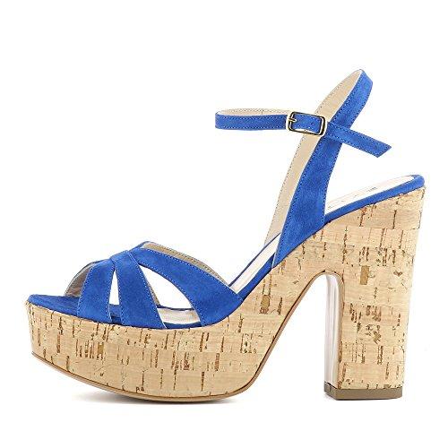 vestir Piel para Shoes de Azul Sandalias de mujer Evita Luna vZgqxvU