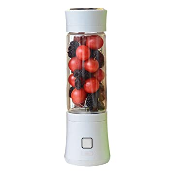 Batidora De Vaso Portátil Mini Licuadora Eléctrica Recargable Juice Blender Con USB 480ml Para Hacer Smoothie Zumos De Fruta Y Verdura Cuchilla De Acero ...