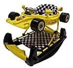 Racing car baby walker / rocker - yel...