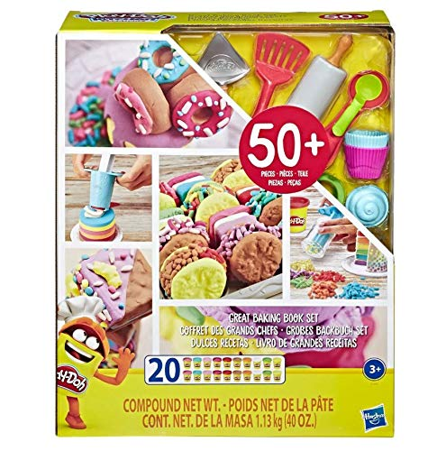 Play-Doh Great Baking Book Play Food Set with Over 50 Tools and 20 Non-Toxic Cans