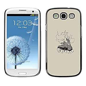 Samsung Galaxy S3 , JackGot - Impreso colorido protector duro espalda Funda piel de Shell (Roller Skater Shoes)