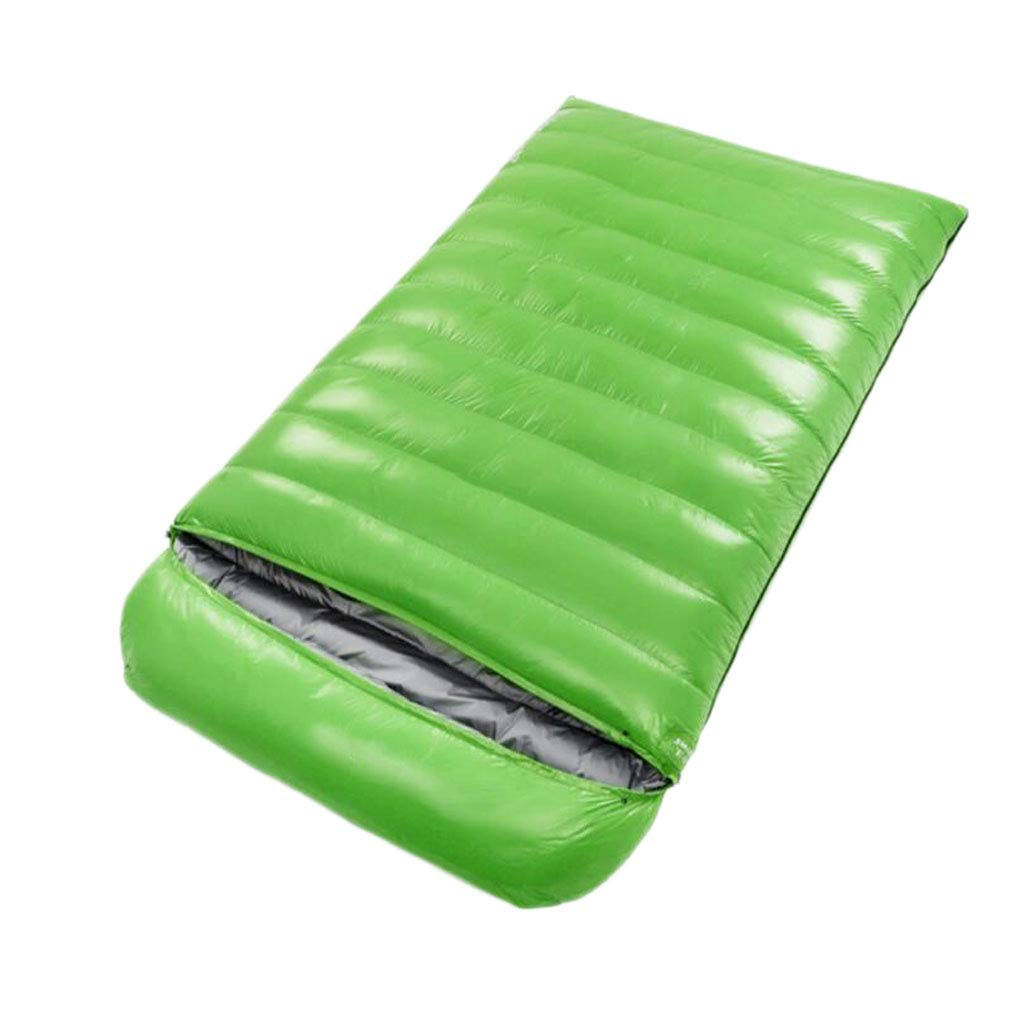 Double Sleeping Bag,Four Seasons Outdoor Thick Warm Down Sleeping Bag Envelope Sleeping Bag (color   Green, Size   3.5KG)