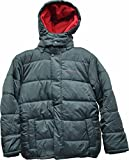Calvin Klein Boys' Eclipse Hooded Puffer Jacket Dark Grey Large 14-16