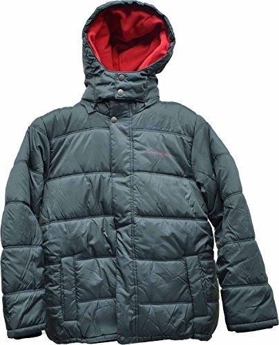Calvin Klein Boys' Eclipse Hooded Puffer Jacket Dark Grey Large 14-16 by Calvin Klein