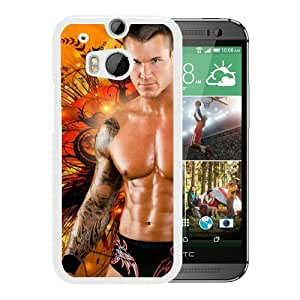 Popular And Lovely Designed Case For HTC ONE M8 With Wwe Superstars Collection Wwe 2k15 Randy Orton 03 White Phone Case