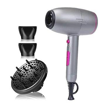 LIUJIE Secador de Cabello Profesional con difusor, liviano y Conveniente salón de peluquería Hotel Viento Viento tecnología de Iones de Silencio secador de ...