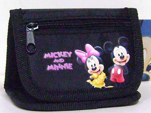 Mickey and Minnie Coin Purse Wallet Black, Bags Central