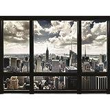 """New York Manhattan Skyline Window 40""""x55"""" Giant XXL Poster"""