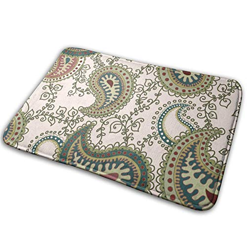 Paisley,Pineapple Comfy,Anti-Slips,Bath Living Room Kitchen Outside,Floor Mats Rug Pads Carpet