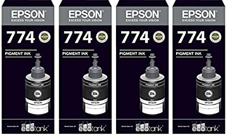 Epson Ink T7741 Black Ink Pack of 4 For M100/200 Ink Cartridges at amazon