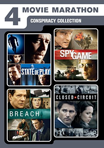 - 4 Movie Marathon: Conspiracy Collection (State of Play / Closed Circuit / Spy Game / Breach)