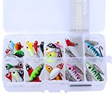 ice fishing spoons - Goture Lead Fishing Jig Kit With Carbon Steel Hooks in Tackle Box, for all season fishing 5 Types, Pack of 40/27