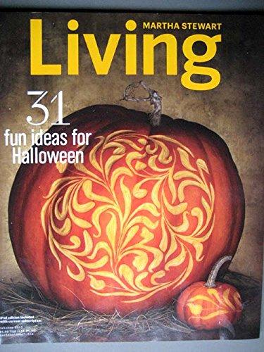 Martha Stewart Living October 2013 Halloween Issue, Pumpkins, Tattooed Owls, Spider-web Cookies, Haunted-house Treat (Martha Stewart Living Halloween Issue)