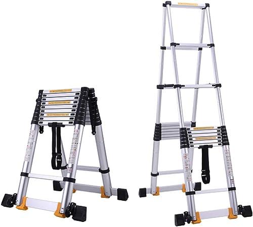 ZR- Herringbone Ladder 4.5+4.5M, Escalera Telescópica Aluminio, Escalera Con Marco