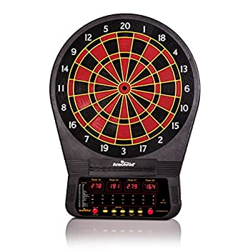 Image of Darts & Equipment Arachnid Cricket Pro Tournament-quality Electronic Dartboard with Micro-thin Segment Dividers for Dramatically Reduced Bounce-outs and NylonTough Segments for Improved Durability and Playability