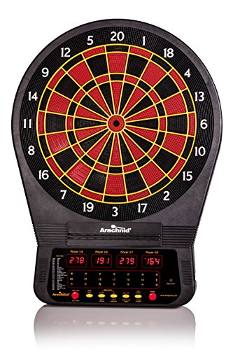 - Arachnid Cricket Pro Tournament-quality Electronic Dartboard with Micro-thin Segment Dividers for Dramatically Reduced Bounce-outs and NylonTough Segments for Improved Durability and Playability