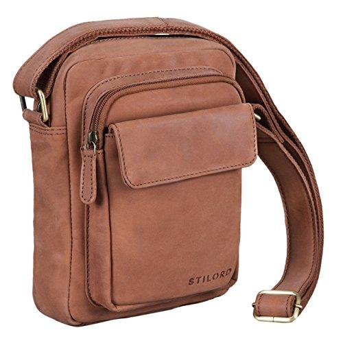 de Tablet vintage iPad marrón Color hombre Marrón portátil mensajero 'Jannis' Silla hombro o de silla de 9 Pequeño de STILORD auténtica 7' bandolera piel para Bolsa para bolso cuero o 7qZUU8x
