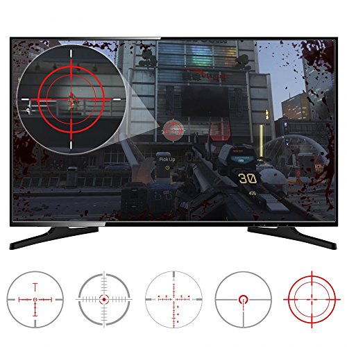 eXtremeRate FastScope No Scope TV Decal for FPS Games on PS4 PS3 Xbox One Xbox 360 PC (10pcs in 2 Size 5 Designs) (Best Wii Fps Games)