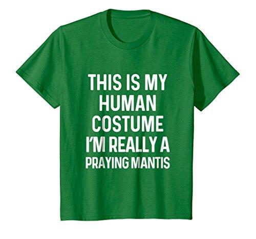 Kids Funny Praying Mantis Costume Shirt Halloween 8 Kelly Green