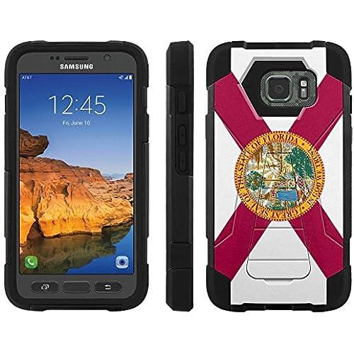AT&T [Galaxy S7 Active] ShockProof Case [ArmorXtreme] [Black/Black] Hybrid Defender [Kickstand] - [Florida Flag] for Samsung Galaxy [S7 Active] Sales