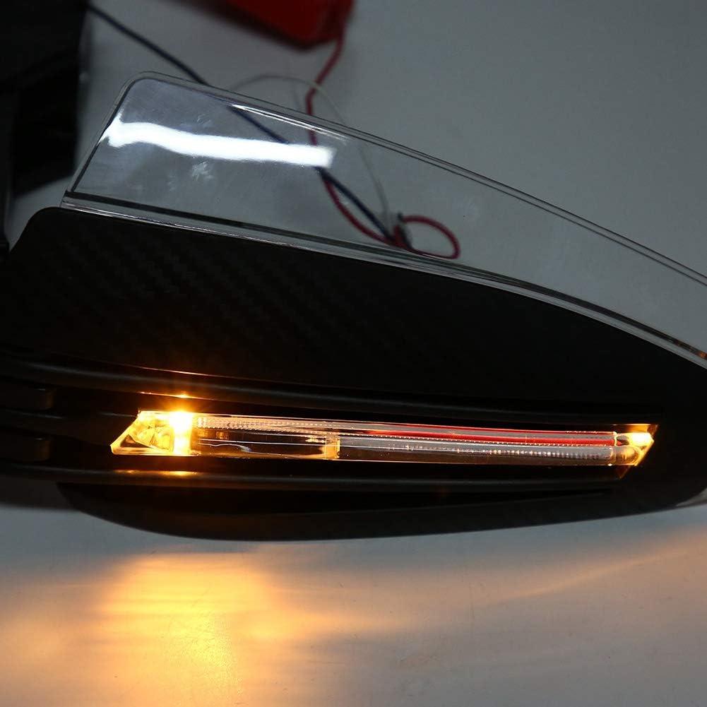 2Pcs 7//8Protecteur de clignotant universel LED Garde DRL Indicateur Protecteur Prot/ège-mains de moto