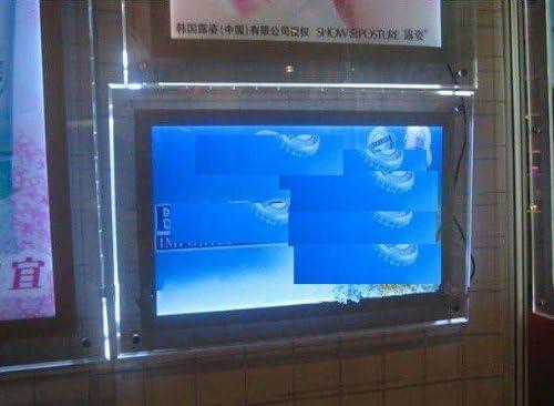 GOWE 4 piezas LED ultradelgado de cristal 11 mm caja de luz A2, LED Publicidad caja de luz: Amazon.es: Juguetes y juegos