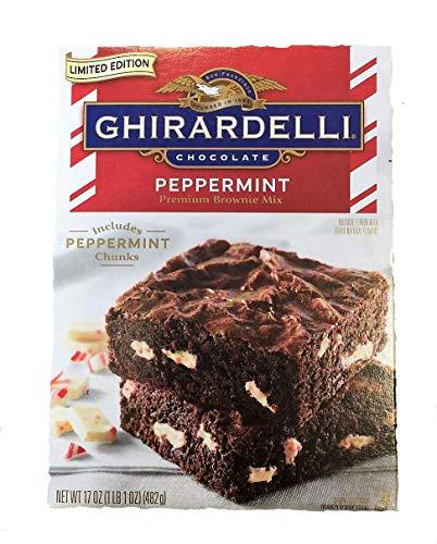 Brownie Peppermint - Ghirardelli Chocolate Peppermint Premium Brownie Mix (17 oz baking mix)