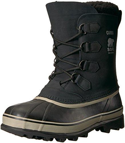 Sorel Men's Caribou NM1000 Boot,Black/Tusk,10 M