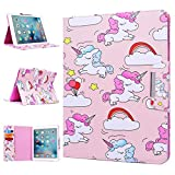 iPad 2 Case WE LOVE CASE Leather Cover iPad 2 3 4 Case Cute Pretty Cover Pattern Stand Folio Foldable Protective iPad 2 Case Shockproof for Kids Bumper Apple iPad 3 Case Unicorn