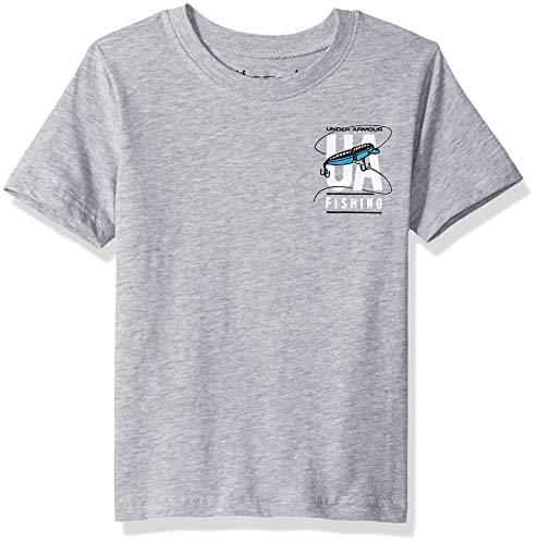 (Under Armour Boys' Little Graphic SS Tee Shirt, Light/Pastel Gr-S192, 4)