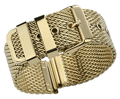 h Bracelet Replacement for Watches Solid Stainless Steel Milanese Watch Belt ()