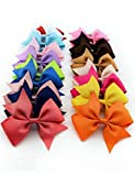 Kaimu 10pcs Girls Ribbon Bow Hair Clip Kids Alligator Clips Party Hair Accessories Facial Hair