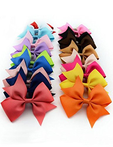 Kaimu 10pcs Girls Ribbon Bow Hair Clip Kids Alligator Clips Party Hair Accessories Facial Hair by Kaimu