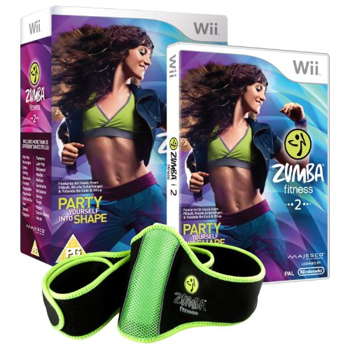 Zumba Fitness 2 (Nintendo Wii, 2011) Complete Game And Zumba Fitness Belt