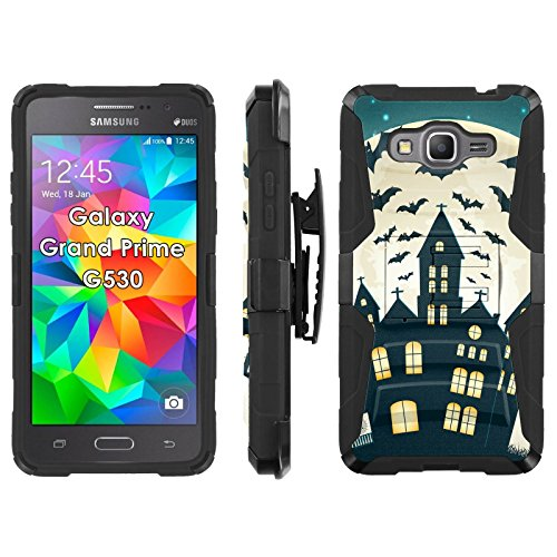 Samsung Galaxy Grand Prime G530 Phone Cover, Full Moon Rising- Blitz Hybrid Armor Phone Case for [Samsung Galaxy Grand Prime G530] with [Kickstand and Holster] by -