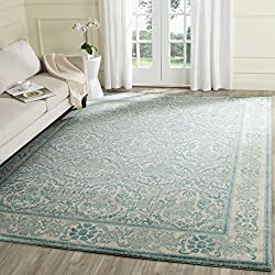 Safavieh Evoke Collection EVK242C Vintage Ivory and Light Blue Area Rug (3' x 5')