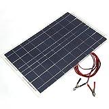 Sedeta 18V 30W Smart Portable Polycrystalline Solar Power Panel Battery Charger With Alligator Clip Car RV Boat