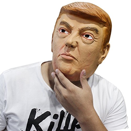 Celebrities Costumes (Donald Trump Latex Mask Celebrity Presidential Candidate Halloween Party Costume)