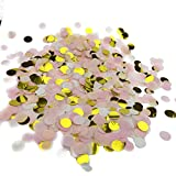 Fecedy 1 inch Circles Tissue Paper Confetti for party 5000pcs/pack