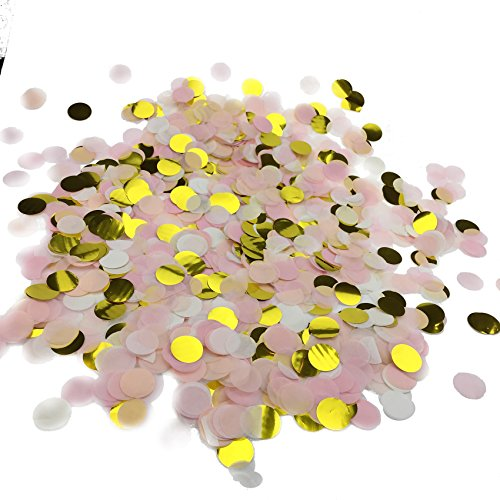 Fecedy 1 inch Circles Tissue Paper Confetti for party (Confetti Party)