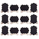 DSSY 20 Pack Wood Mini Chalkboards Signs with Easel Stand,Rectangle Small Chalkboard Signs Blackboard for Weddings,Parties, Table Numbers, Food Signs and Special Event Decoration(Style 6)
