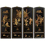 Oriental Furniture Ladies Soapstone Wall Plaques