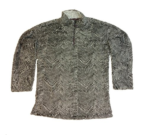 mens tribal cord frosty tipped quarter zip