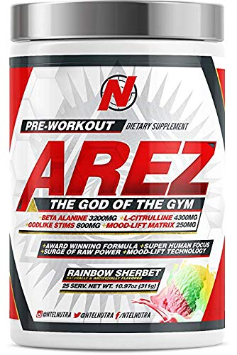 AREZ God of The Gym Pre-Workout (Rainbow Sherbert)