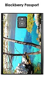 Kinghousse-Carcasa para Blackberry Passport, diseño de mar