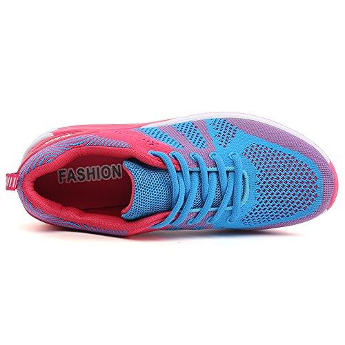 Profilsohle 40 Laufschuhe mit Gr Sportschuhe Luftkissen KIKO Dämpfung Damen Blau 35 Schuhe Air Misco BqwXUR4S7q